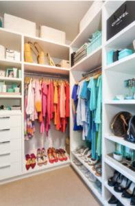 Closet Organization, Color Coded Closet