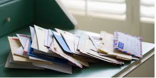 Pile of mail, messy mail, mail build up