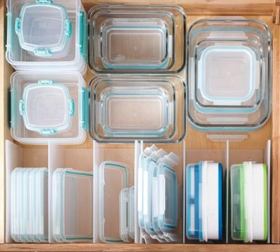 Organized Tupperware drawer