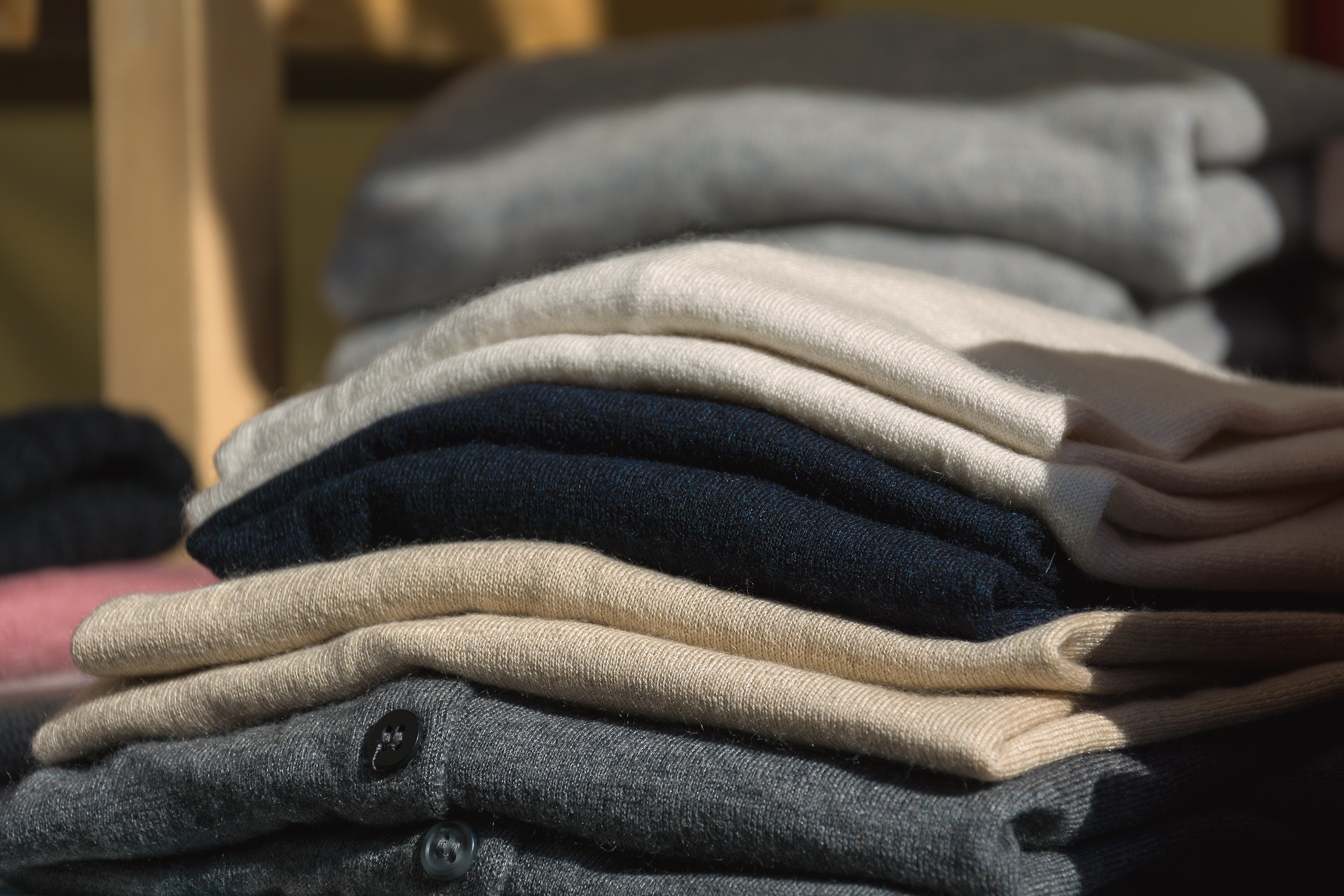 The Task of Folded Sweaters