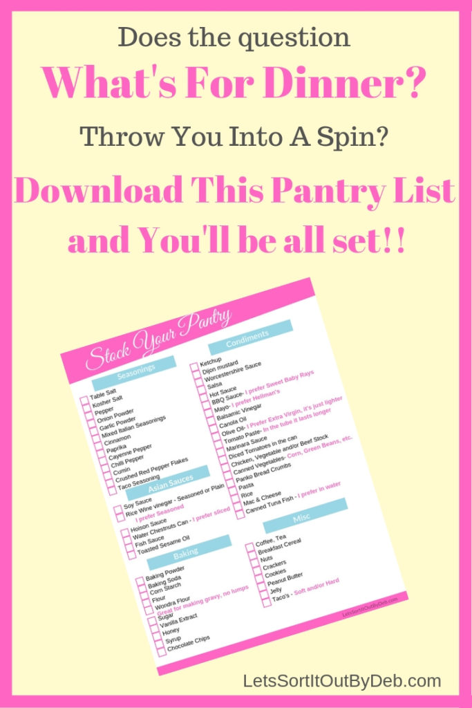 Stocked Pantry List