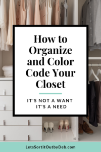 Organized closet sorted by color.
