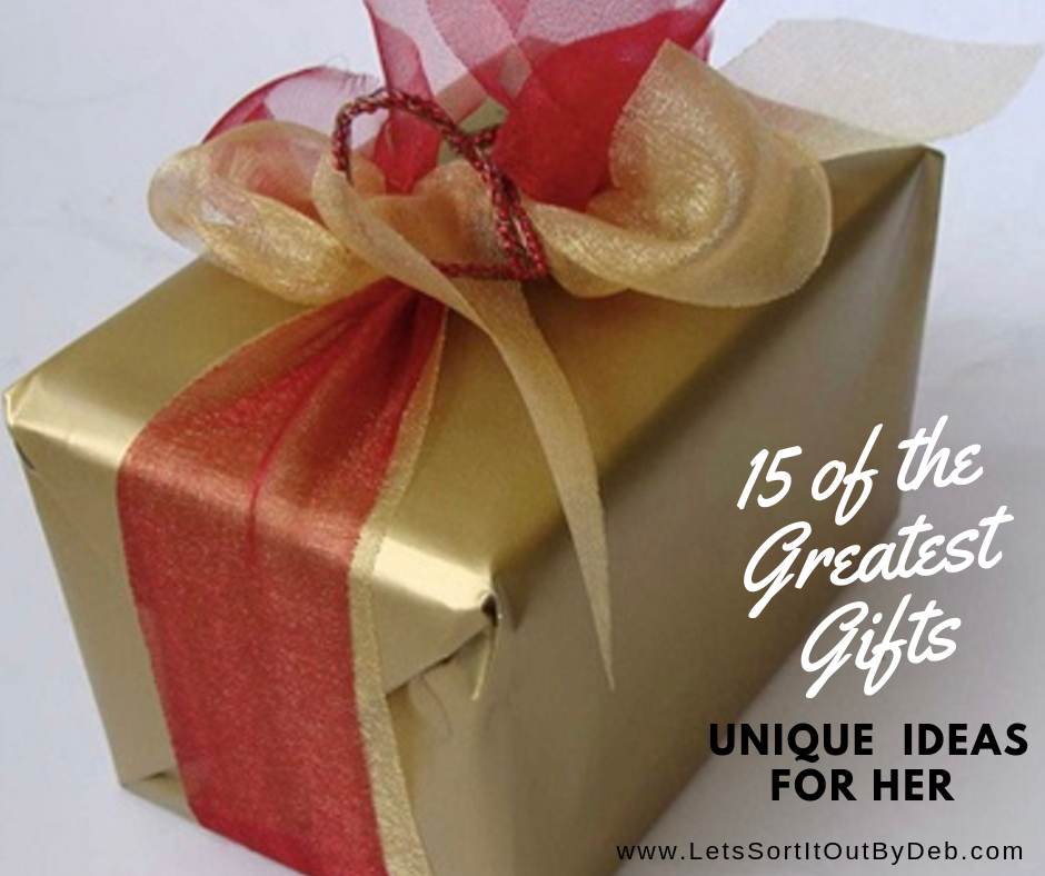 15 of the Greatest Unique Gifts for Her in a Gold Gift Wrapped Box