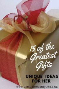 Unique Gift Guide Gold Wrapped Box
