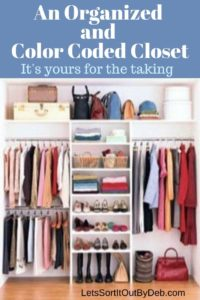An Organized and Color Coded Closet