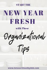 New Year Organizational Tips