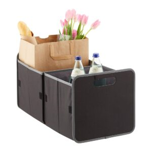 Foldable Trunk Organizer filled with groceries