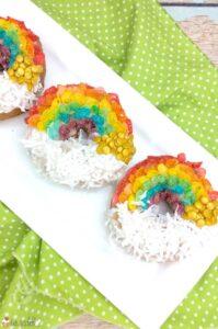 Rainbow Air Fryer Donuts