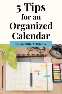 5 Tips for an Organized Calendar