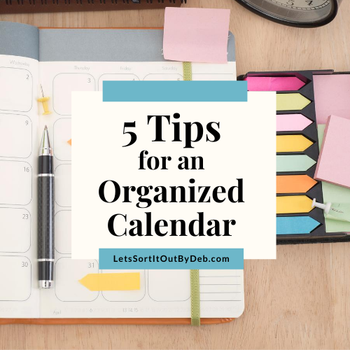 5 Tips for an Organized Calendar