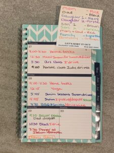 Color coded planner